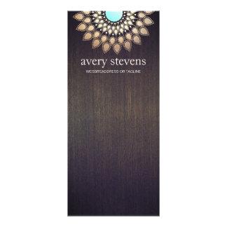 Madeira floral do na moda do motivo de Lotus do 10.16 X 22.86cm Panfleto