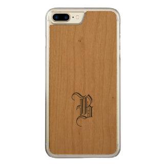 Madeira magro do iPhone do monograma Capa iPhone 8 Plus/ 7 Plus Carved