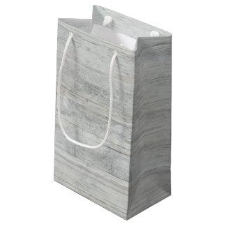 Madeira rústica afligida e gasto sacola para presentes pequena