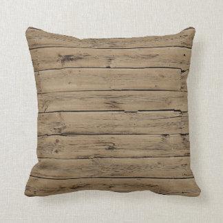 Madeira rústica travesseiros