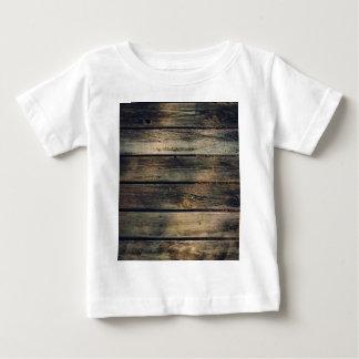 Madeira rústica do celeiro camiseta para bebê
