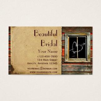 Madeira rústica do celeiro com o cartão de visita