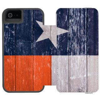 Madeira velha pintada bandeira de Texas dos azuis