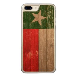Madeira velha pintada de Texas bandeira vermelha e Capa iPhone 7 Plus Carved