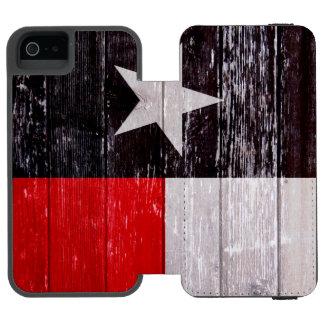 Madeira velha pintada de Texas bandeira vermelha e