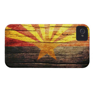 Madeira velha rústica da arizona capa para iPhone 4 Case-Mate