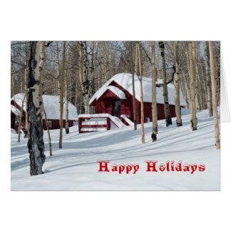 Madeiras de Aspen no cartão da neve