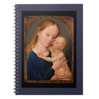 Madonna com criança do cristo caderno espiral