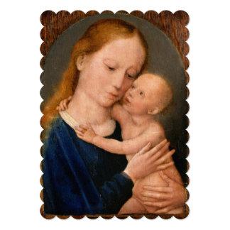 Madonna com criança do cristo convite 12.7 x 17.78cm