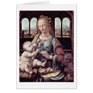 Madonna com o cravo, perto cartão