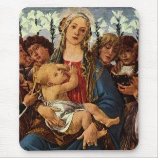 Madonna com os oito anjos que cantam mousepad