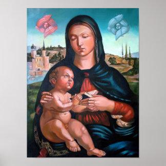 Madonna com querubins poster
