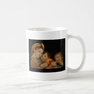 Madonna da cadeira caneca de café