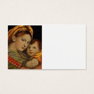 Madonna da cadeira cartão de visitas