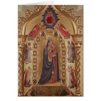 Madonna das estrelas cartão