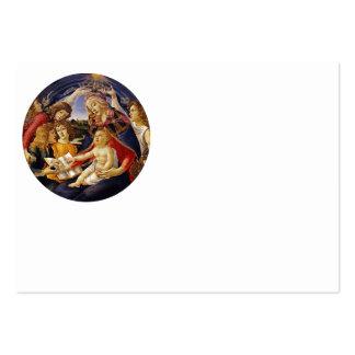 Madonna del Magnificat Cartão De Visita Grande