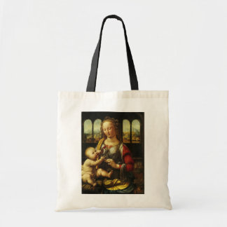 Madonna do cravo por Leonardo da Vinci Bolsas