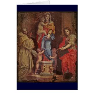 Madonna dos Harpies Cartão Comemorativo