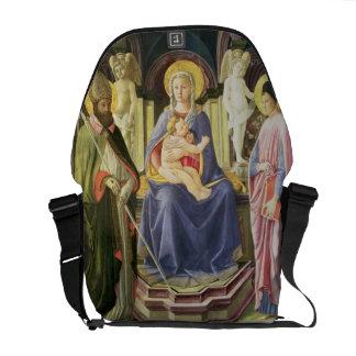 Madonna e a criança com SS. Clemente e Justin, Bolsas Mensageiro