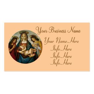 Madonna e a criança de Botticelli Cartão De Visita