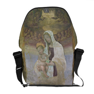 Madonna e a criança, um detalhe do tabernacl bolsas mensageiro