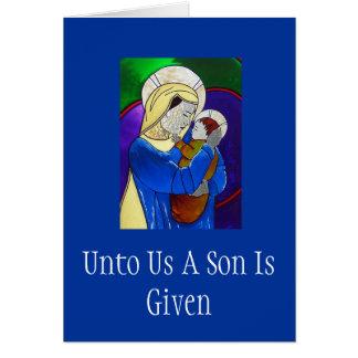 Madonna e cartão de Natal da criança