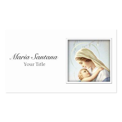 Madonna e cartão de visita da criança