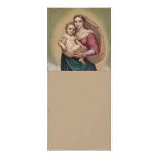 Madonna e criança 10.16 x 22.86cm panfleto