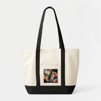 Madonna e criança com o St John infantil Bolsas De Lona