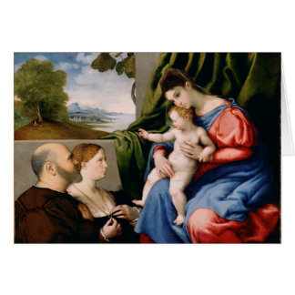 Madonna e criança com o St John infantil Cartão Comemorativo