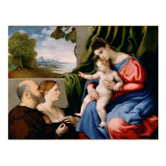 Madonna e criança com o St John infantil Cartão Postal