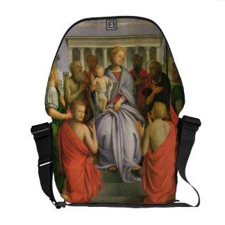 Madonna e criança com oito santos, 1520s (têmpera bolsas mensageiro