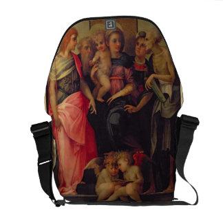 Madonna e criança com santos, c.1518 (óleo na plac bolsas mensageiro