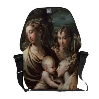 Madonna e criança com santos, c.1529 (óleo na plac bolsas mensageiro