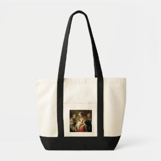 Madonna e criança com santos John, Anna e Rocco Bolsa Para Compras
