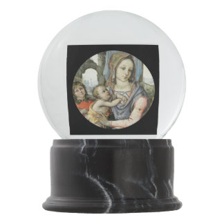 Madonna e criança com St Joseph e um anjo