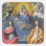 Madonna e criança com St. Lucy e Maria Madalena Adesivo