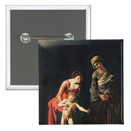 Madonna e criança com uma serpente, 1605 botons