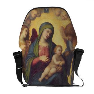 Madonna e criança e criança na glória, c.1520 (óle bolsas mensageiro