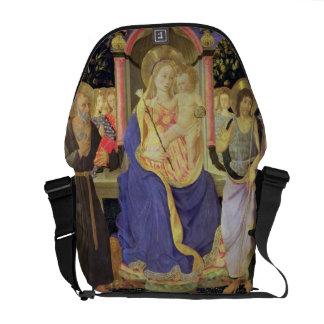 Madonna e criança enthroned com santos (altarpiec bolsas mensageiro