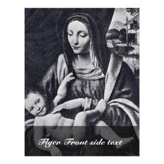 Madonna e criança por Luini Bernardino (o melhor Q Panfleto Personalizados