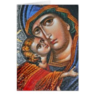 Madonna e Jesus infantil Cartão Comemorativo
