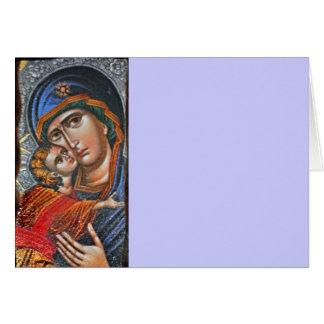 Madonna e Jesus infantil Cartão