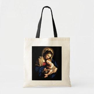 Madonna e saco do costume da criança bolsa
