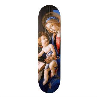 Madonna ensina a criança Jesus Sandro Botticelli Shape De Skate 18,7cm