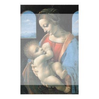 Madonna Litta por Leonardo da Vinci Panfleto Personalizado