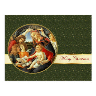 Madonna por Botticelli. Cartão do Natal das belas Cartão Postal