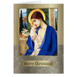 Madonna por Marianne Stokes. Cartão de Natal