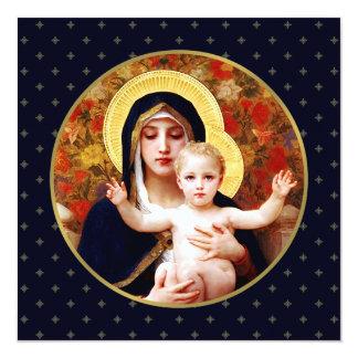 Madonna por W. Bouguereau. Cartão de Natal Convite Personalizado