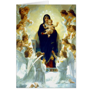 Madonna por W.Bouguereau. Cartões de Natal das